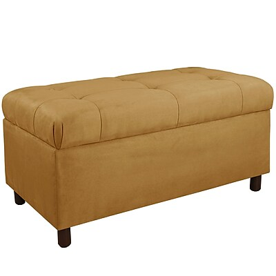 Alcott Hill Monroeville Upholstered Storage Bench; Moccasin