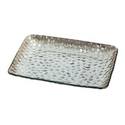 Alcott Hill Nixon Hammered Serving Tray; Silver