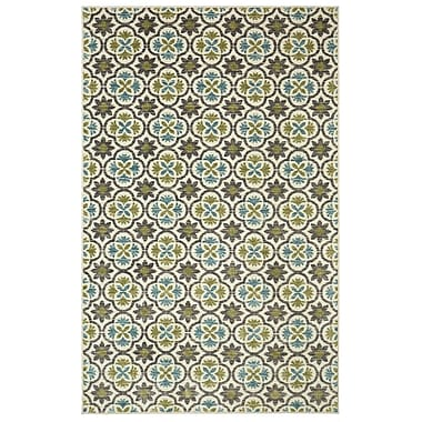 Alcott Hill Sisson Aqua Area Rug; Rectangle 5' x 8'