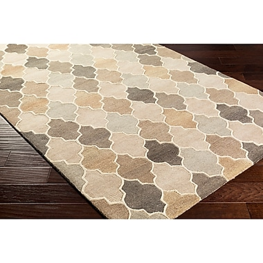 Alcott Hill Billmont Hand-Tufted Neutral/Brown Area Rug; Rectangle 2' x 3'