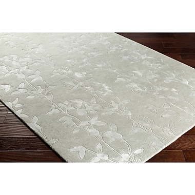 Alcott Hill Silvera Hand-Tufted Gray Area Rug; Rectangle 5' x 7'6''
