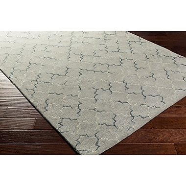 Alcott Hill Hopkinton Hand-Tufted Gray/Neutral Area Rug; Rectangle 2' x 3'