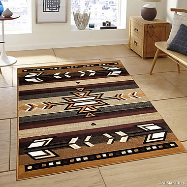 AllStar Rugs Hand-Woven Brown Area Rug; 7'7'' x 10'6''