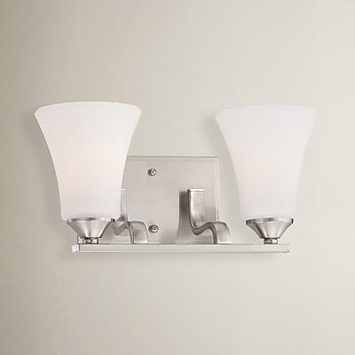 Alcott Hill Oakside 2-Light Vanity Light; Brushed Nickel