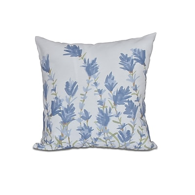 Alcott Hill Orchard Lane Lavender Floral Throw Pillow; 16'' H x 16'' W