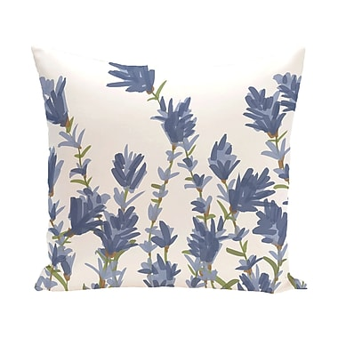 Alcott Hill Orchard Lane Lavender Floral Outdoor Throw Pillow; 20'' H x 20'' W