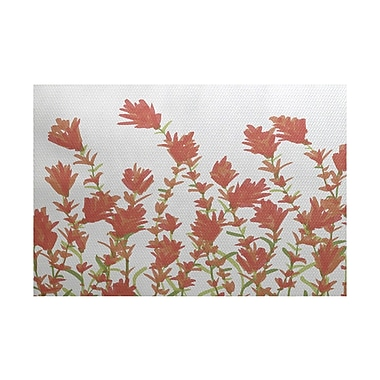 Alcott Hill Orchard Lane Coral Indoor/Outdoor Area Rug; 3' x 5'