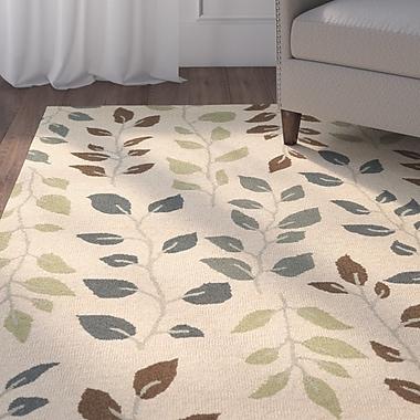 Alcott Hill Norvelt Handmade Beige/Green Area Rug; 8' x 10'