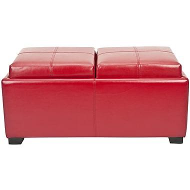 Alcott Hill Dogwood Storage Ottoman; Red