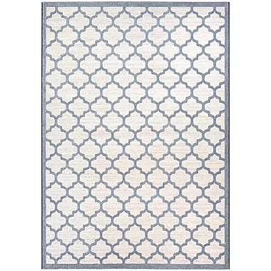 Alcott Hill Goldsmith Oyster/Slate Blue Area Rug; 5'3'' x 7'6''