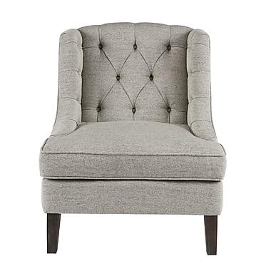 Alcott Hill Hodgson Button Tufted Wingback Chair; Beige
