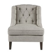 Alcott Hill Hodgson Button Tufted Wingback Chair; Beige