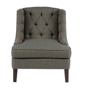Alcott Hill Hodgson Button Tufted Wingback Chair; Blue Multi