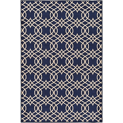 Alcott Hill Hardenburgh Blue/Beige Area Rug; Rectangle 5' x 8'