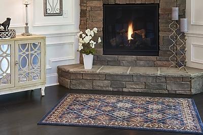 Astoria Grand Nathanson Blue Area Rug; Rectangle 8' x 10'