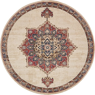 Astoria Grand Nathanson Cream Area Rug; 5' x 8'
