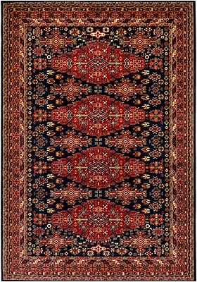 Astoria Grand Batchelder Red/Blue Area Rug; Rectangle 2' x 3'