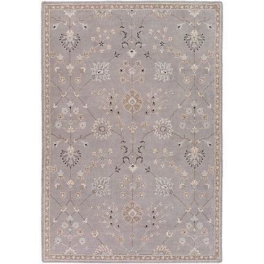 Astoria Grand Bloomingdale Gray Area Rug; Rectangle 5'3'' x 7'6''
