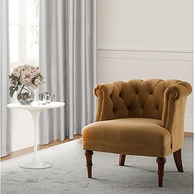 Astoria Grand Morphew Barrel Chair; Gold
