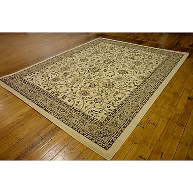 Astoria Grand Concord Ivory Area Rug; Rectangle 8' x 10'