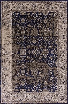 Astoria Grand Bailor Ink Blue/Ivory Area Rug; Rectangle 5'3'' x 7'7''