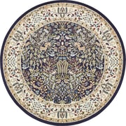 Astoria Grand Jackson Navy Blue Area Rug; Round 10'