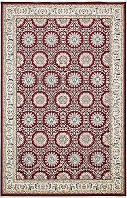 Astoria Grand Jackson Burgundy Area Rug; Rectangle 13' x 19'8''