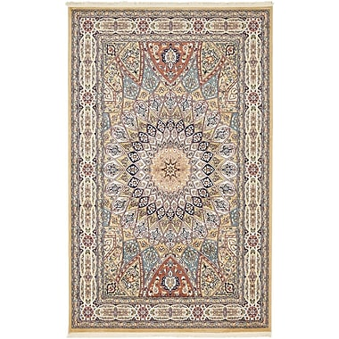 Astoria Grand Jackson Beige Area Rug; Rectangle 5' x 8'
