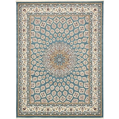 Astoria Grand Jackson Blue Area Rug; Rectangle 5' x 8'