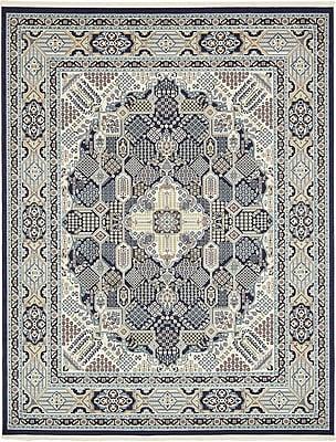 Astoria Grand Jackson Navy Blue Area Rug; Rectangle 8' x 10'