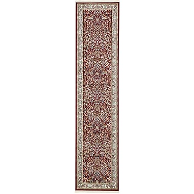 Astoria Grand Jackson Burgundy Area Rug; Runner 3' x 13'