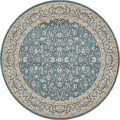 Astoria Grand Jackson Blue Area Rug; Round 10'