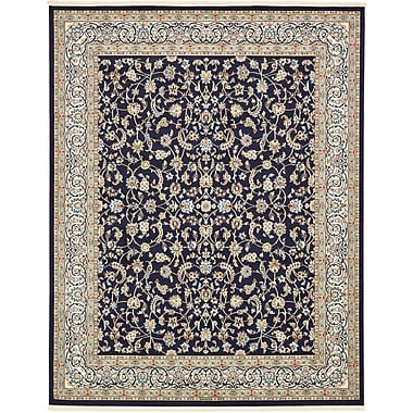 Astoria Grand Jackson Navy Blue Area Rug; Rectangle 8' x 10'