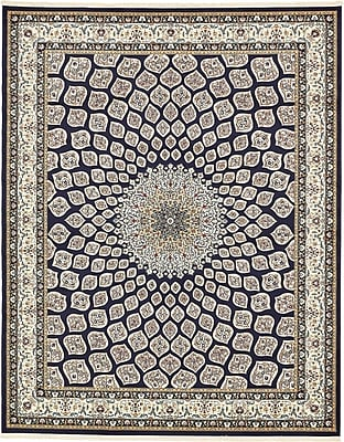 Astoria Grand Jackson Navy Blue Area Rug; Rectangle 5' x 8'