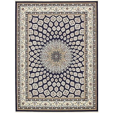 Astoria Grand Jackson Navy Blue Area Rug; Rectangle 10' x 13'