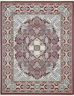 Astoria Grand Jackson Burgundy Area Rug; Rectangle 8' x 10'