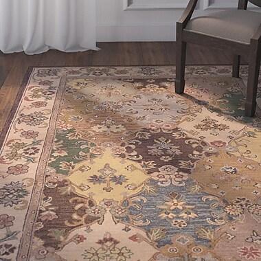 Astoria Grand Yvette Hand-Tufted Brown Area Rug; 1'10'' x 2'10''