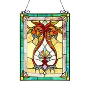 Astoria Grand Floral Glass Window Panel