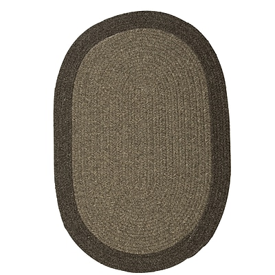 August Grove Rupert Brown Area Rug; Oval 3' x 5'