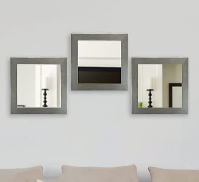 August Grove Fenton 3 Piece Mirror Set; 21.5'' H x 21.5'' W x 0.75'' D