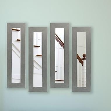 August Grove Foosland Panel Mirror (Set of 4); 35.5'' H x 9.5'' W x 0.75'' D