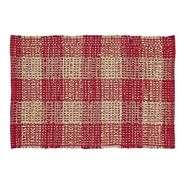 August Grove Collins Red / Tan Area Rug; 4' x 6'