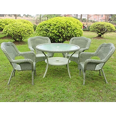 August Grove Ovalle 5 Piece Dining Set; Antique Moss