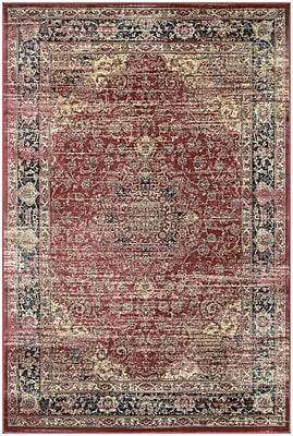 Astoria Grand Larimore Red/Black Area Rug; 3'1'' x 5'3''