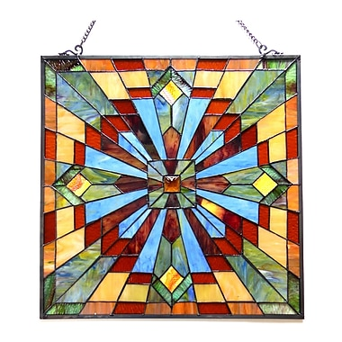 Astoria Grand Stained Glass Window Panel