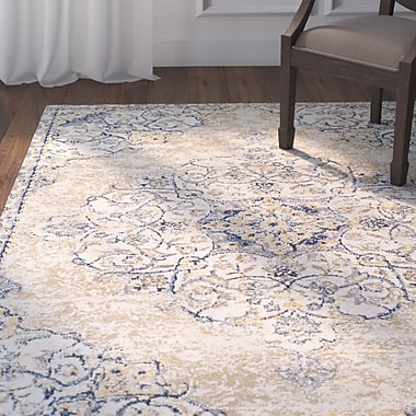Astoria Grand Linslade Pebble Beige Area Rug; Rectangle 3'11'' x 5'3''