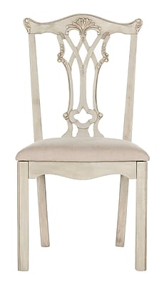 Astoria Grand Berger Side Chair (Set of 2); Taupe/Rustic Gray