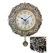 Astoria Grand Bilbrook Polyresin Hand-Painted Wall Clock