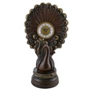 Astoria Grand Decorative Peacock Polyresin Tabletop Clock
