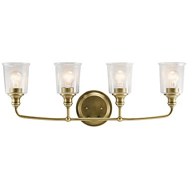 August Grove Marseilles 4-Light Vanity Light; Natural Brass